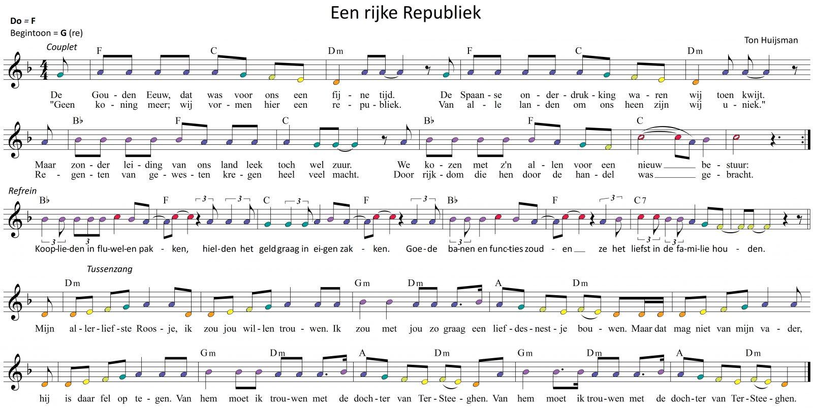 Lied: 'Een rijke republiek'